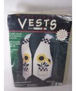 Dimensions Vest Appliques Kit SUNFLOWER GARDEN 62007 Fashion Art Felt - $14.84