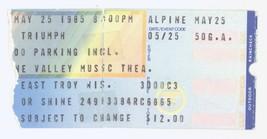 Rare TRIUMPH BTO MOUNTAIN 5/25/85 E Troy WI Alpine Valley Ticket Stub! - $8.90