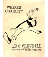 """Playbill - Vintage October 24, 1949 """"Where's Charley"""" - Ray Bolger - $10.00"""