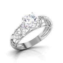 Art Deco Design Ring Love Ring Diamond Promise Ring Womens Anniversary Ring Gift - $449.99