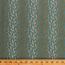 Something Blue Edyta Sitar Lavender Floral Teal Cotton Fabric Print BTY ... - $12.49