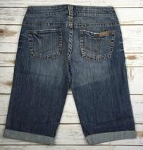 Silver J EAN S Shorts Low Rise Denim Cuffed Stretch Jean Short 28 - $23.84