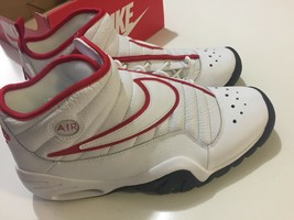 Nike Air Shake Ndestrukt Men's Basketball Shoes White/Red 880869 100 Size 11 image 2