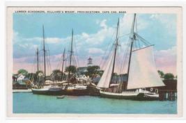 Lumber Schooners Sailing Ships Provincetown Massachusetts 1920c postcard - $6.93