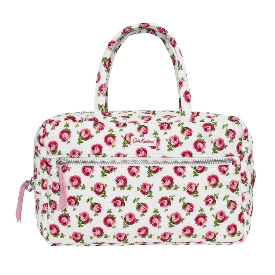 Cath Kidston Cath Kidston100Genuine/  QUILTED LARGE COSMETIC BAG W/HANDLES POLYE