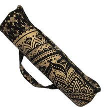 Black Gold Ombre Large Shoulder Strap Gym Fitness Bag Travel Bag Handmad... - $26.99