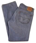 Levi's 505 Straight Fit Jeans Men's W36 X L34 100% Cotton - $26.68