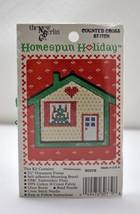 Homespun Holiday Christmas Ornament Counted Cross Stitch Kit - Tiny Hous... - $5.65