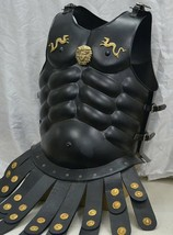 MUSCLE ARMOUR CUIRASS JACKET & TROY HELMET medieval knight armor costume - $225.00