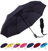 Rain-Mate Compact Travel Umbrella - Windproof, Reinforced Canopy, Ergono... - $24.04