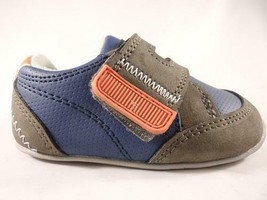 Carter's Taylor Boys Shoes Blue+Gray Casual Standing Sneaker Kids Toddle... - $12.25
