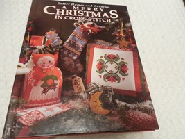 A Merry Christmas Cross-Stitch Better Homes and Gardens Hard Cover Pattern Book - $11.68