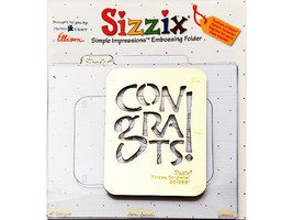 Sizzix Metal Embossing Plate, Phrase Congrats! #38-9661