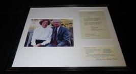 Rosalynn & Jimmy Carter Framed ORIGINAL 1977 Recipe, Letter & Photo Display - $123.74