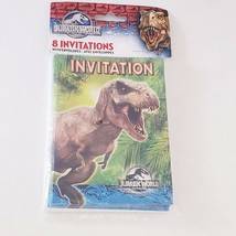 Jurassic World Birthday Party Invitations 8ct Dinosaurs - $7.75