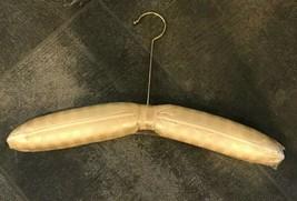 Vintage Elegant Plastic Covered Satin Hanger with Gold Hook 16 Inches long - $12.86