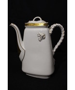 Haviland Limoges France ROPE Handle Gold Trim TRIANGLE Coffee Pot Sugar ... - $149.99