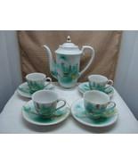Meiyo China white demitasse coffee pot set pattern mey24 1879-1921. - $45.00