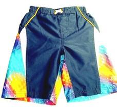 Ocean Pacific OP Boys Board Shorts Swim Trunks 6-7 Navy w/ Graphics Logo... - $10.65