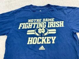 Adidas Notre Dame Fighting Irish Hockey Long Sleeve T-Shirt Men's Medium... - $28.59