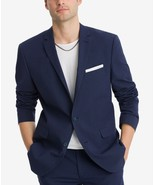 NEW BAR III SLIM FIT ACTIVE STRETCH SEERSUCKER NAVY STRIPE SPORT COAT 42... - $59.39