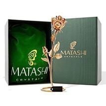 "Matashi CT3185 Everlasting 7.5"" 24K Gold Plated Long Stem Rose Flower wi... - $25.71"