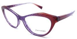 Alain Mikli Rx Eyeglasses Frames A03061 F004 54x16 Violet / Orange Dot Italy - $103.41