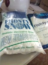 2 Unopened Bags of Frosty Snow for Christmas Village - $3.67
