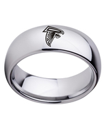 Atlanta falcons 8mm titanium rings fans championship ring gift 64 copy thumbtall
