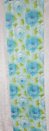 Symphony Scarf Blue Flowers Made in Italy