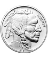 Indian - Buffalo 1 Troy Ounce .999 Silver Round - $25.00