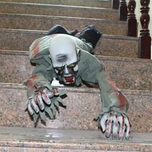 Acrawl Halloween Scary Prop Creepy Ghost Voice Control Light Up Eyes Skull - $44.89