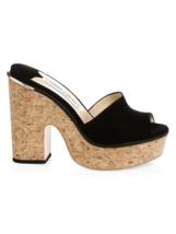 Jimmy Choo DeeDee Suede Platform Mules Sandals Size 40.5 - $277.20