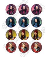 Disney Descendants Edible Cupcake Images - Cupcake Toppers - $8.98+