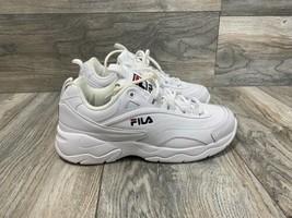 Fila Disarray Sneaker In White Leather   Size 7.5   Women's - $49.50