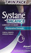 Systane Balance Lubricant Eye Drops, Restorative Formula, Twin pack, 0.3... - $15.43