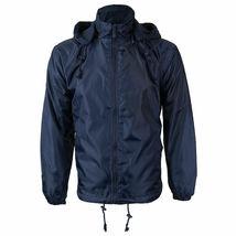 Men's Water Resistant Polar Fleece Lined Hooded Windbreaker Rain Jacket image 6