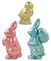 Bethany Lowe Easter Metallic Candy Chick and Bunnies, Set of 3 LC3338