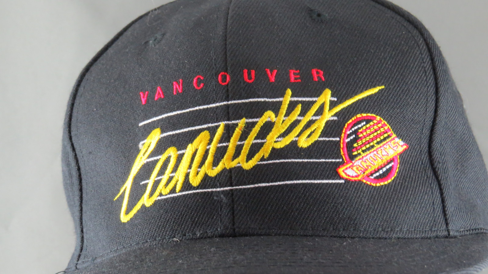 Vancouver Cancuks Hat (VTG) - Script Front with Logo - Adult Snapback