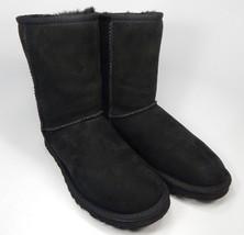 UGG Australia Classic Short Sheepskin Black Boots Size 6 M (B) EU 37  Model 5825