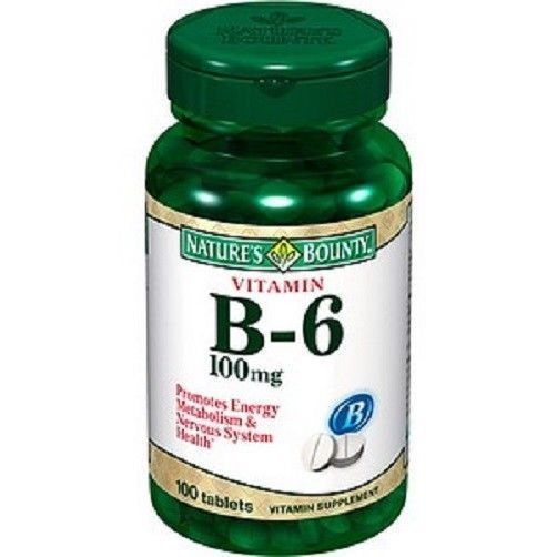 Nature's Bounty B-6 100 mg Tablets