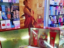 Queen By Queen Latifah 3 Piece Gift Set for Women Her 3.4oz EDP 3 oz Lotion RARE - $219.99