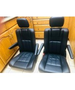 BLACK LEATHER OEM TOWN AND COUNTRY SEATS-SPRINTER,VAN, HOTROD,TRUCKS (2 ... - $454.41