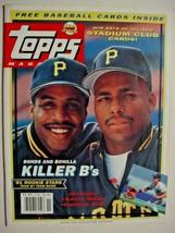 Spring 1991 Topps Magazine w/8 inserted cards- Bonds/Bonilla on cover - $8.00