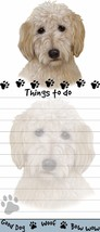 GOLDENDOODLE DOG DIECUT LIST PAD NOTES NOTEPAD Magnetic Magnet Refrigerator - $7.99