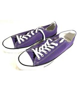 Converse All Star Men's Purple White Canvas Low Top Sneakers #137837F Si... - $44.50