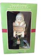 2006 China Bisque Porcelain Snow Baby Ornament In Box - $24.00