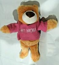 "#1 MOM Plush Teddy Bear 9"" tall by Beverly Hills Teddy Bear Co. - $6.99"