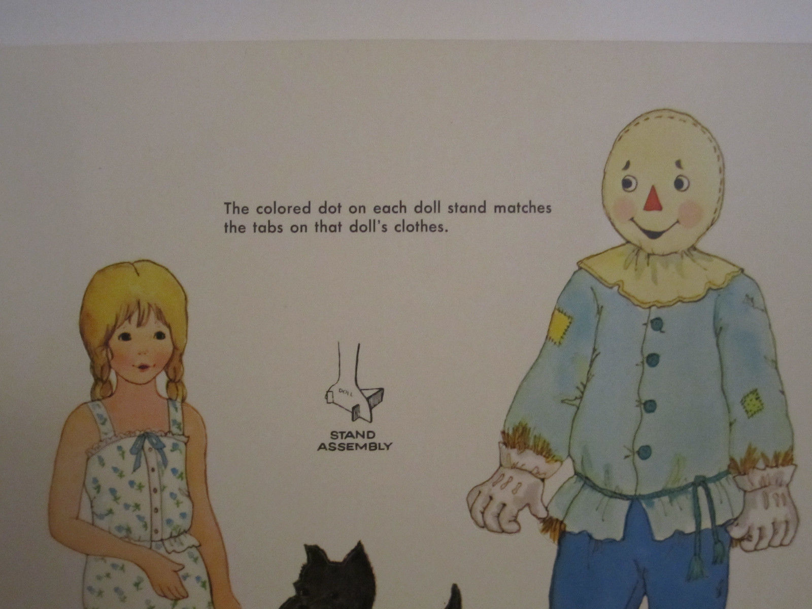 Whitman Wizard of OZ PaperDolls Vintage 1976 Paper Doll #1987 image 4