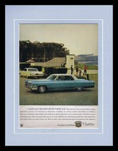 ORIGINAL Vintage 1966 Cadillac Sedan De Ville 11x14 Framed Advertisement - $41.71